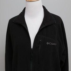 Columbia Black Zip-up Fleece Men's Large